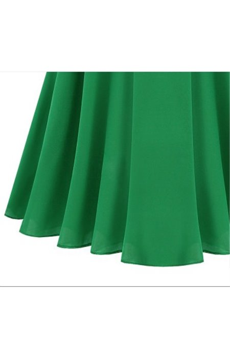 Šifoninė suknelė su apykakle