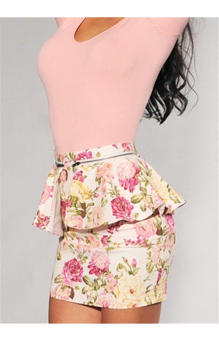 Gėlėtas sijonas