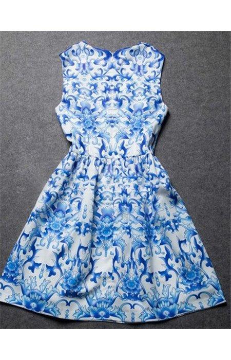 Melsva Raštuota suknelė