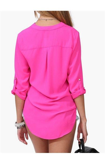 Stilingi šifoniniai marškiniai
