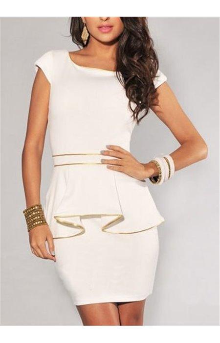 Stilinga balta suknelė
