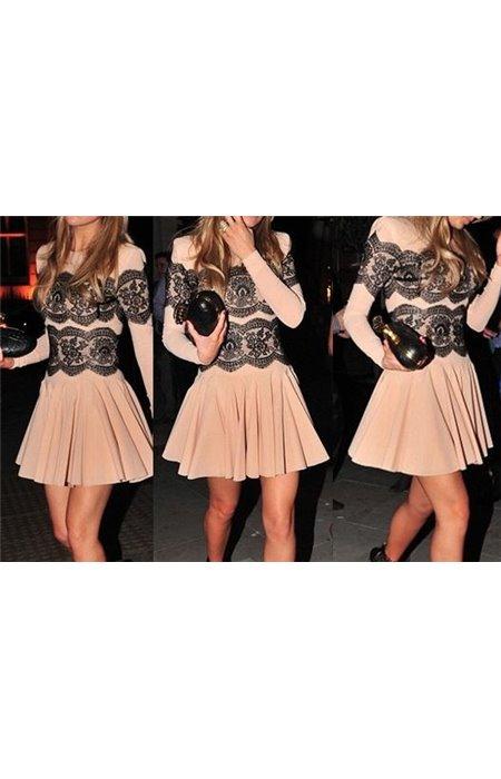 Tampri suknelė su gipiūru