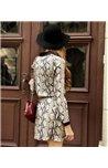 Šifoninė raštuota suknelė