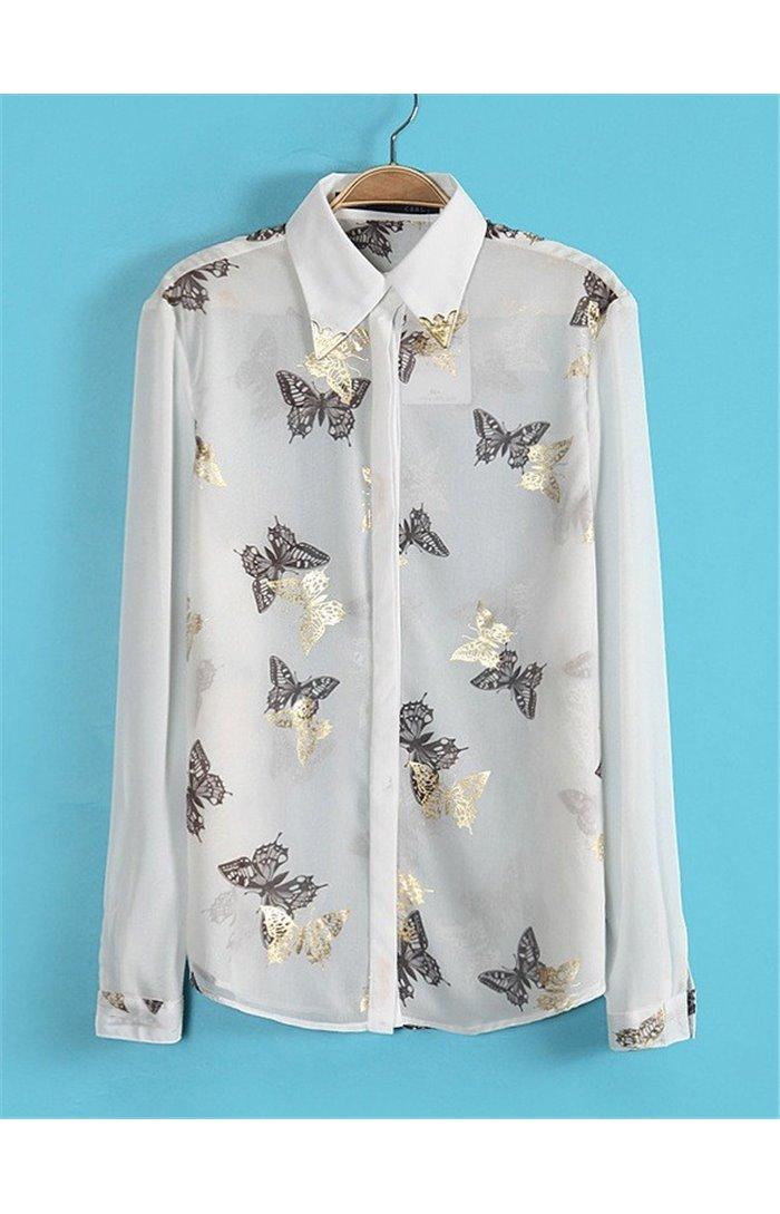 Marškiniai su drugeliais