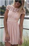 Suknelė su siuvinėtomis gėlėmis