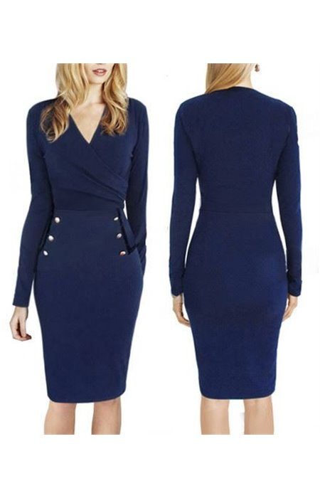 Klasikinė mėlyna suknelė