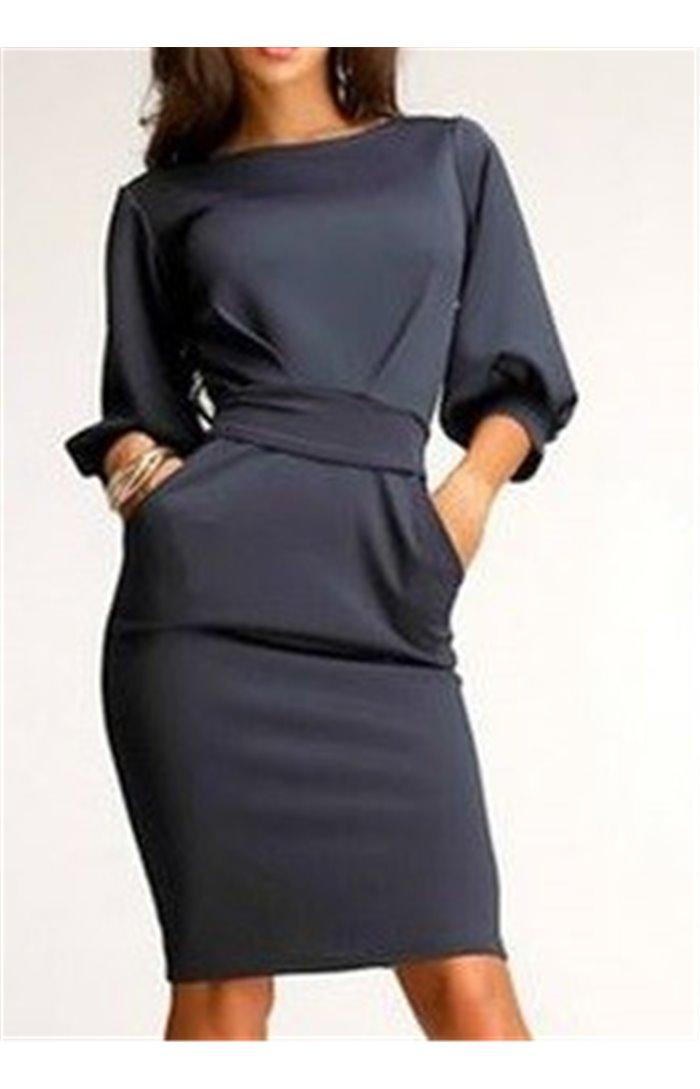 Suknelė su diržu