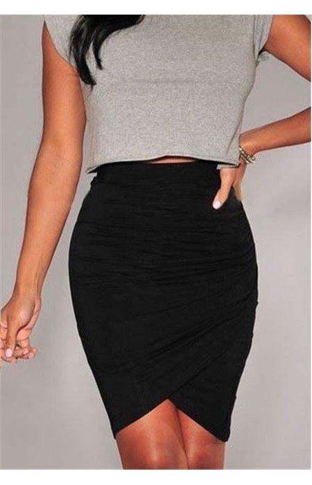 Stilingas, asimetriškas sijonas