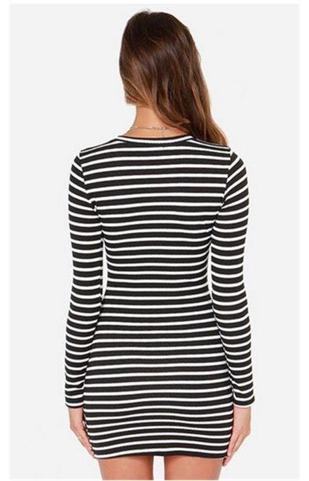 Dryžuota suknelė-tunika