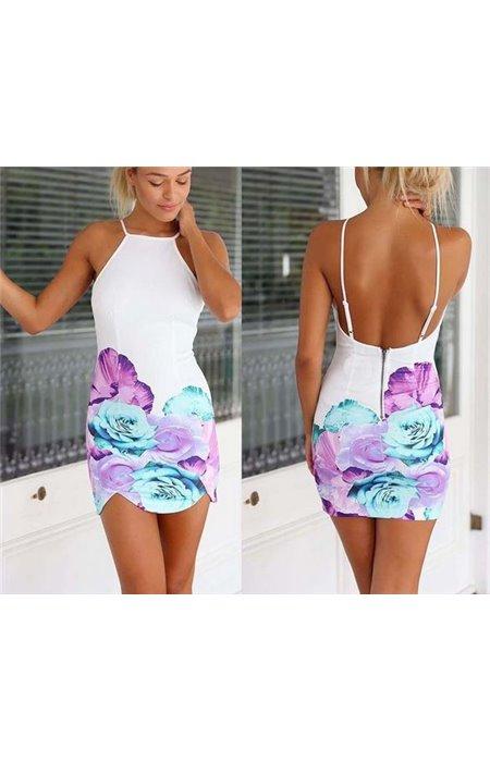 Vasariška gėlėta suknelė