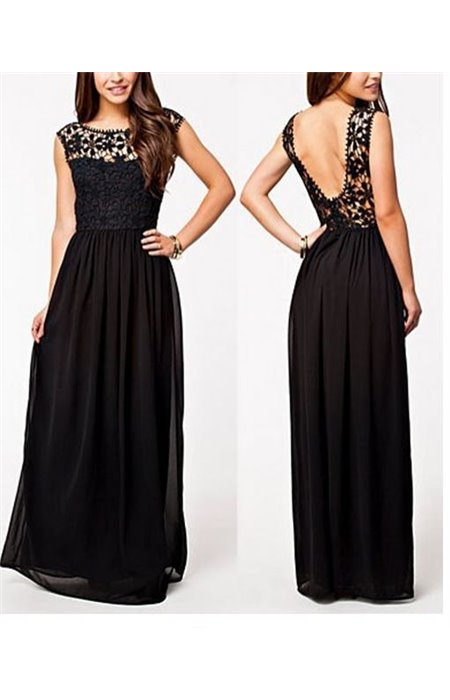 Ilga, nėriniuota suknelė