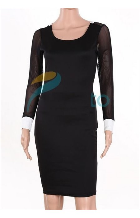 Seksuali suknelė su perregimu tinkleliu