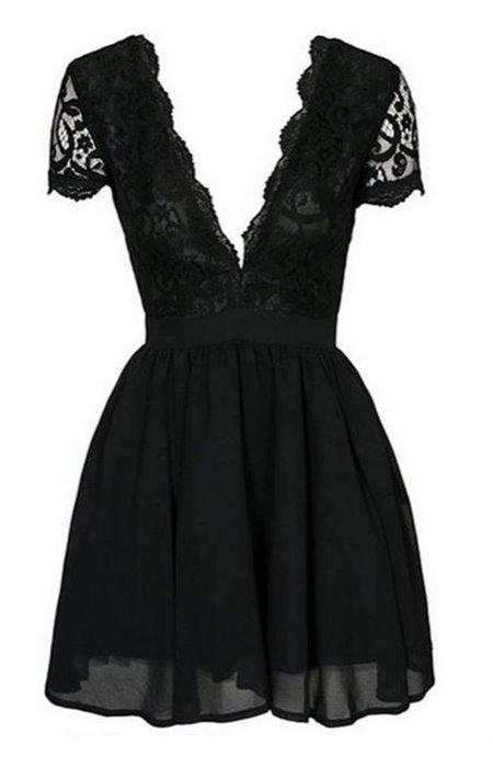 Puošni suknelė V formos iškirpte