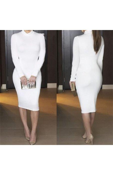 Tampri suknelė aukštu kaklu