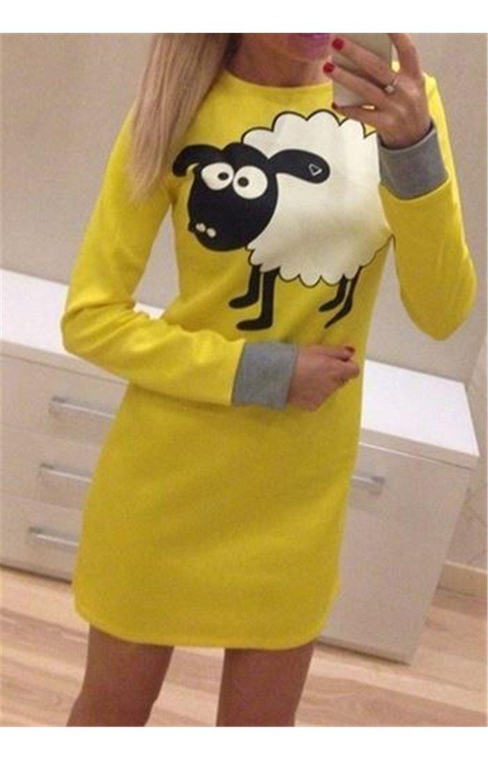Žaisminga suknelė su avyte