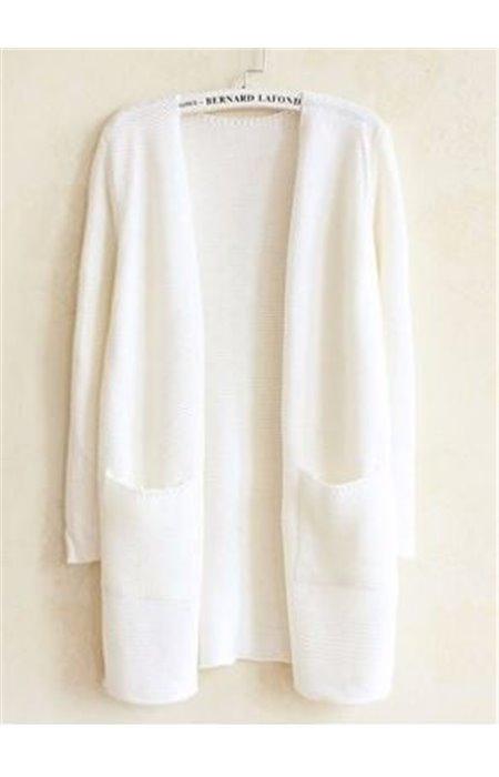 Stilingas kardiganas su kišenėmis