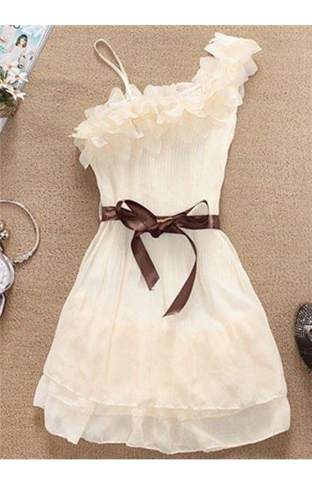 Suknelė vienu pečiu