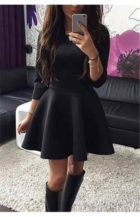 Suknelė 3/4 rankovėmis