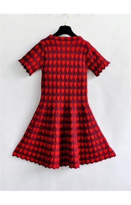 Suknelė su širdelėmis