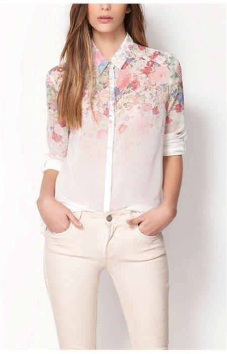Gėlėti marškiniai