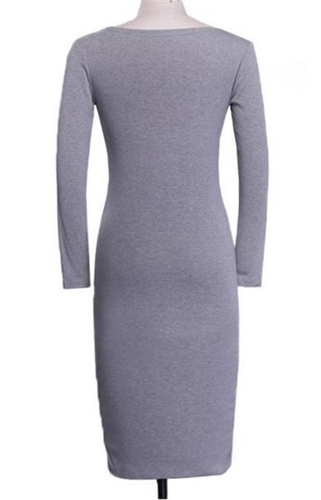 Tampri suknelė V formos iškirpte