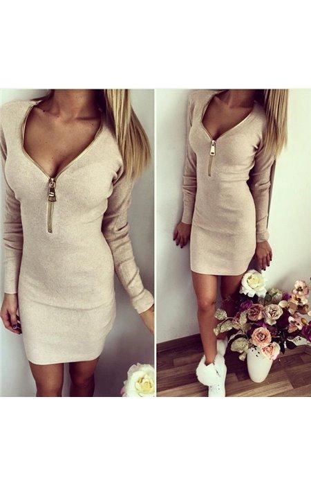 Suknelė su reguliuojamu užtrauktuku
