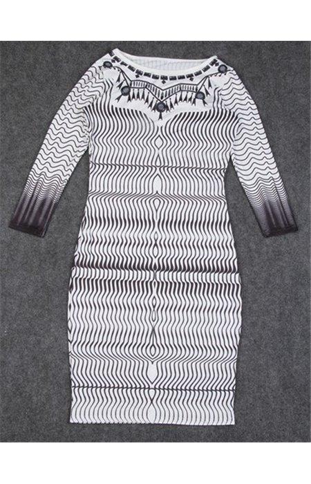 Tampraus audinio suknelė