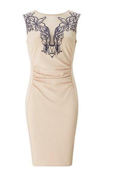 Klasikinė kūno spalvos suknelė