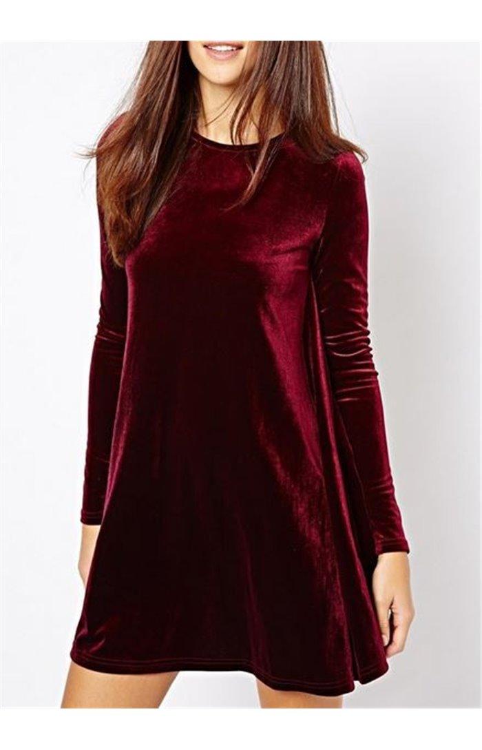 Aksominė suknelė