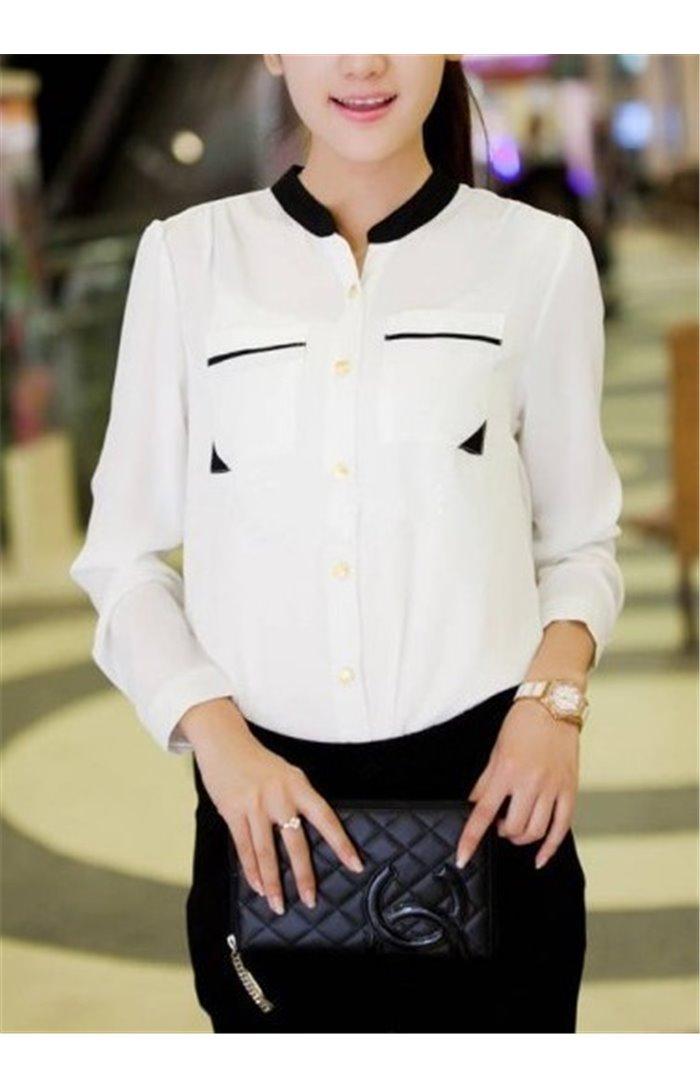 Stilingi marškiniai su kišenėlėmis
