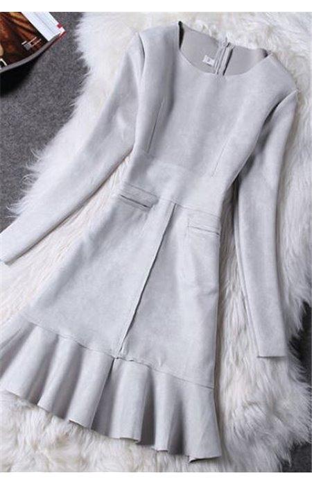 Stilinga zomšinė suknelė