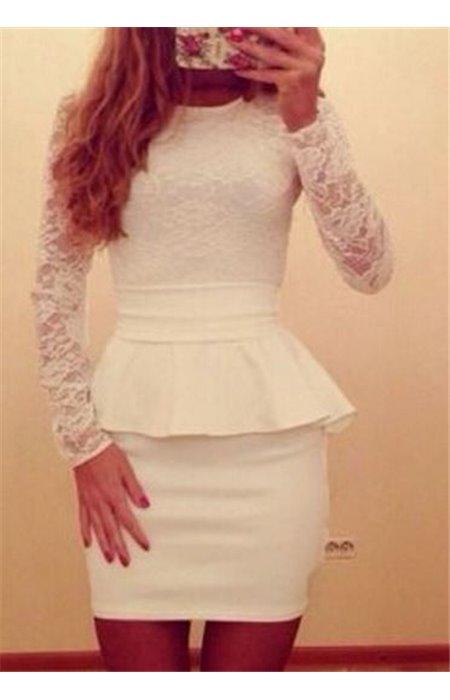 Peplum stiliaus suknelė