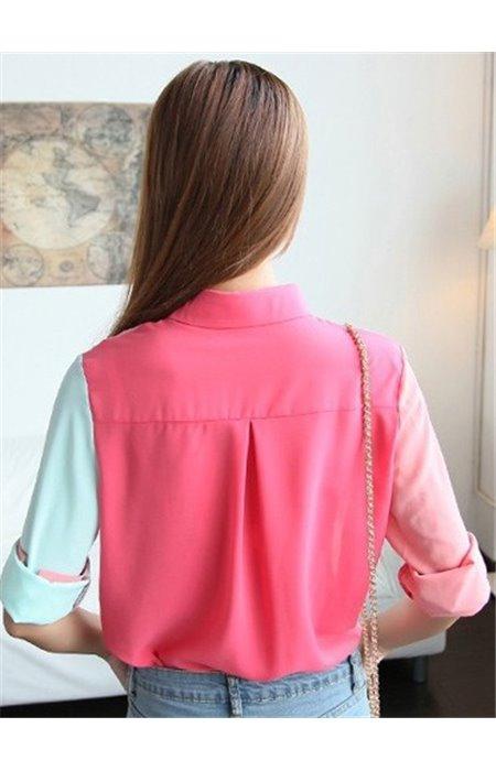 Pastelinių spalvų marškiniai