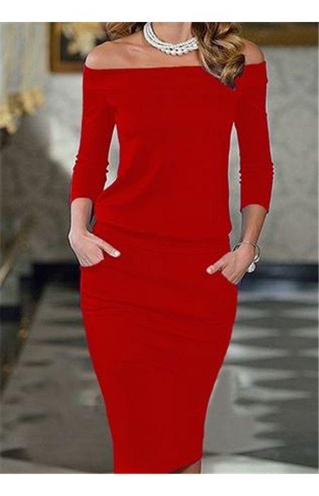 Klasikinė Suknelė su Kišenėmis
