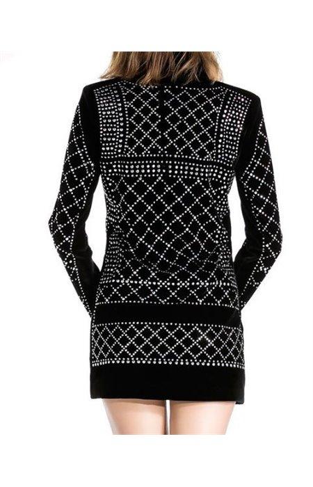 Puošnus velvetinis švarkelis-suknelė