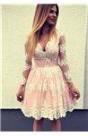 Suknelė su perregimomis rankovėmis