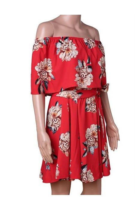 Vasariška Suknelė Atvirais Pečiais