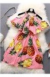 Žaisminga Suknelė su Ananasais
