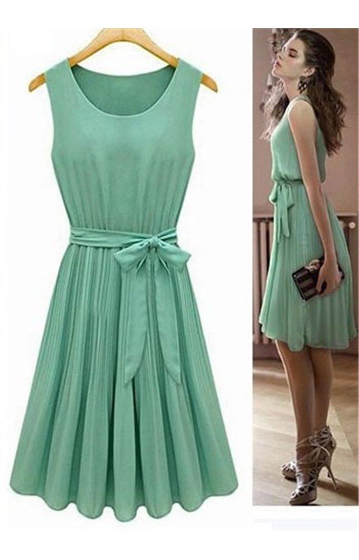 Romantiška šifoninė suknelė
