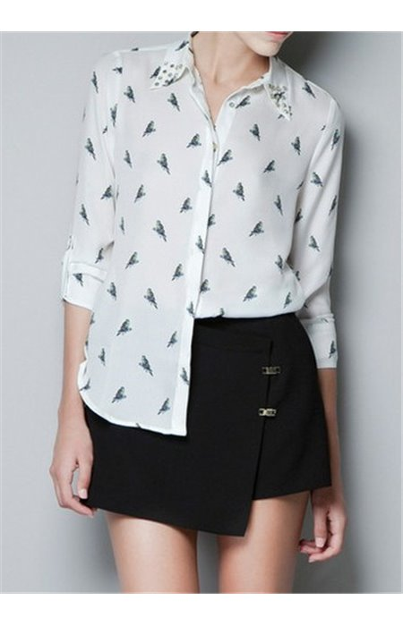 Marškiniai su paukšteliais
