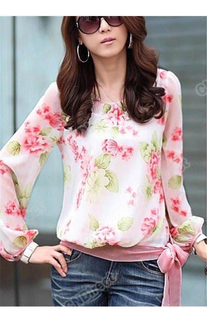Gėlėti permatomi marškiniai