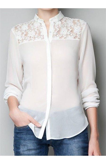 Marškiniai su neriniuota nugarine dalimi