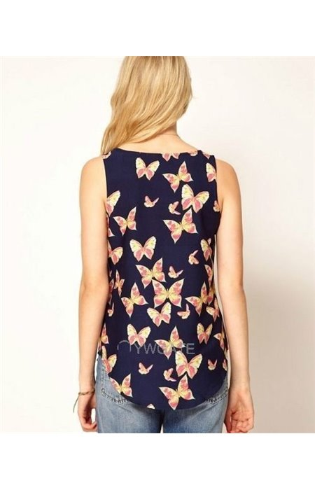 Palaidinė su drugeliais