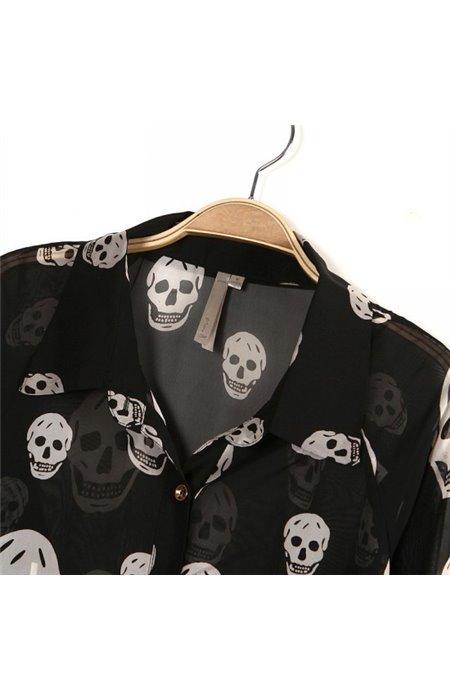 Marškiniai su kaukolėmis