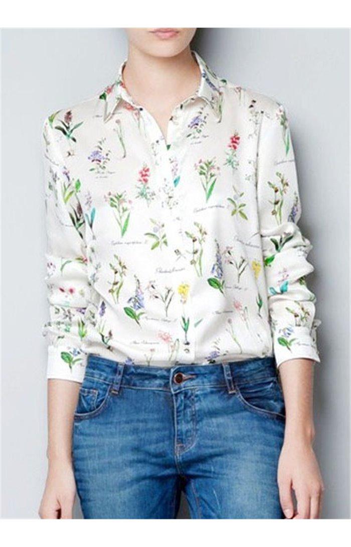 Marškiniai su gėlėmis