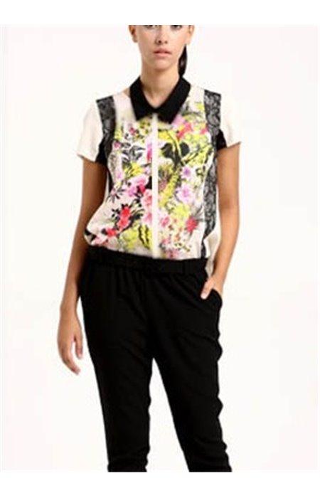Margi marškiniai su gipiūru