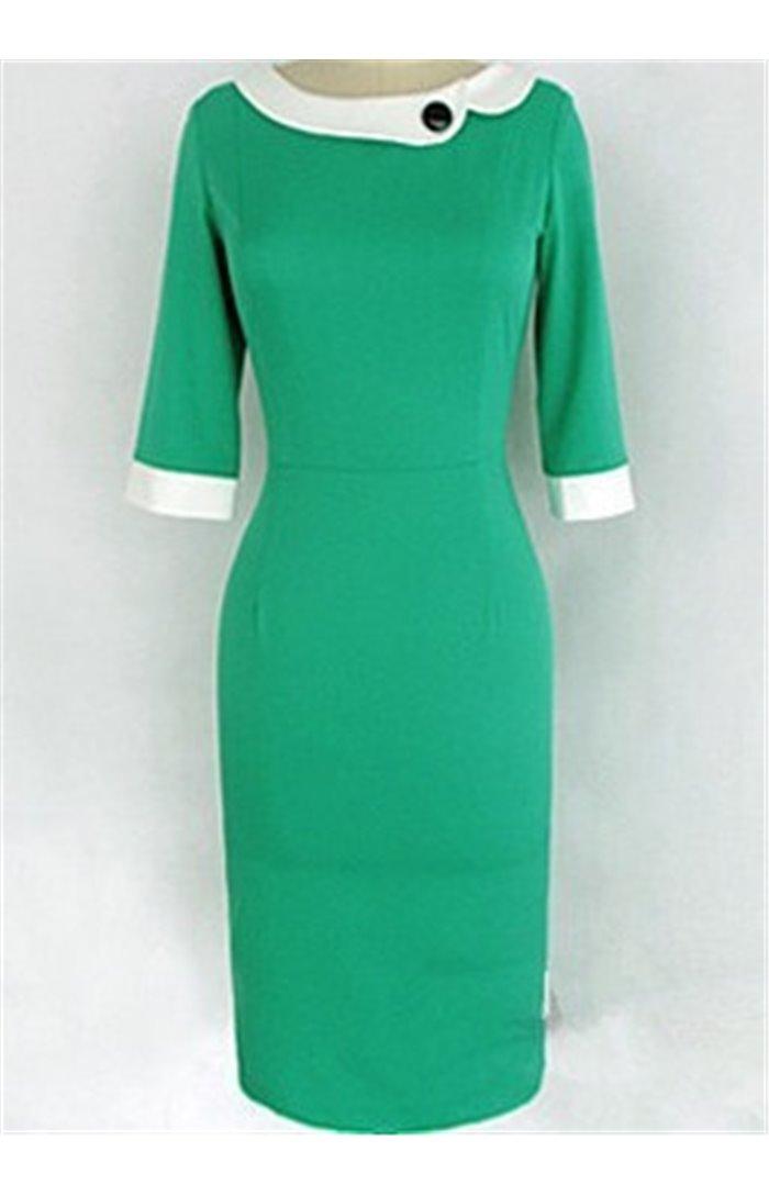 Elegantiška suknelė su kalnieriumi