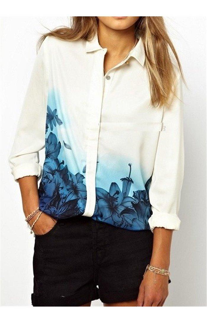 Marškiniai su žiedlapiais