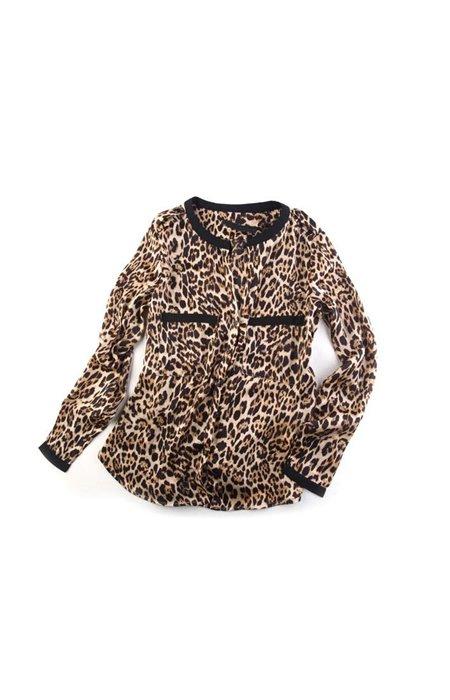 Leopardo rašto marškiniai