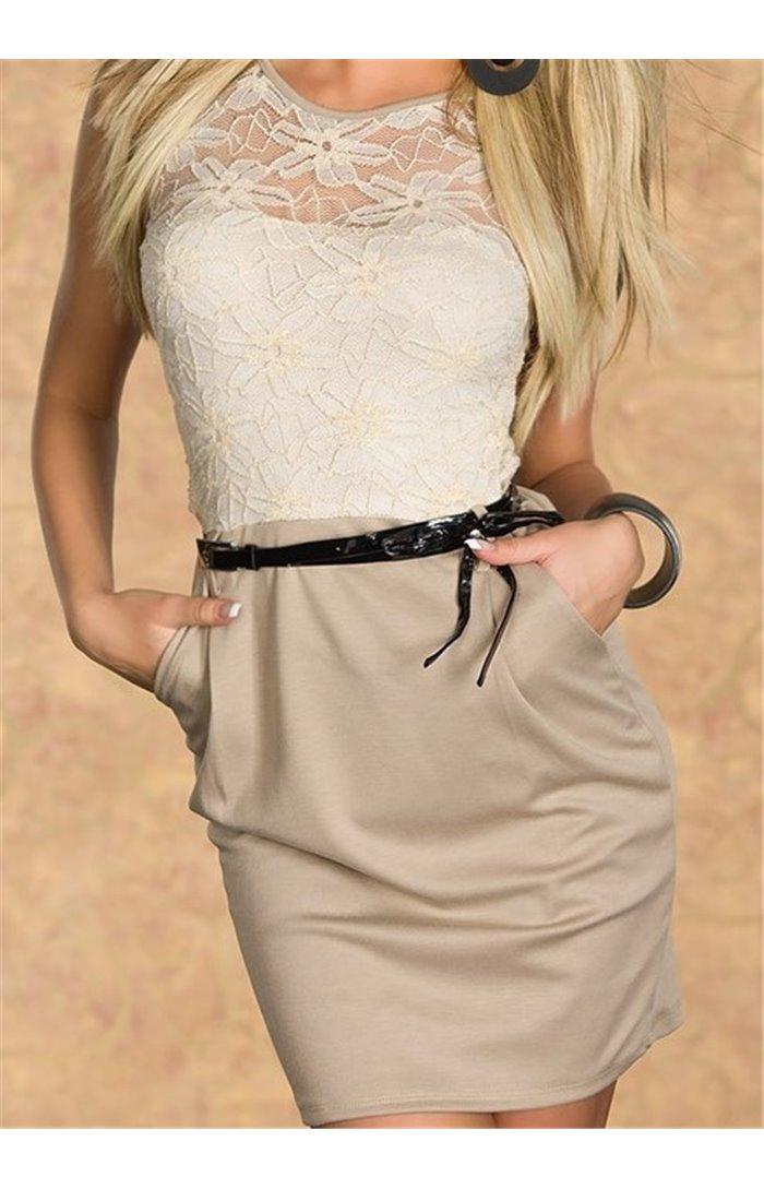 Mini suknelė su nėriniais